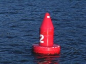 Red buoy# 2 Stock Footage