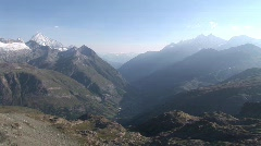view of the alps - stock footage