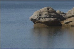 Lake Rock One Stock Footage