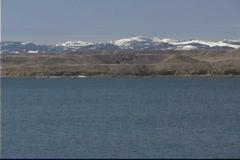 Lake Mountain Snow Stock Footage