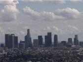 Los Angles Skyline Tlapse Stock Footage