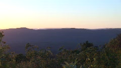 Shenendoah Mountains Pan Right to Left Sunset Stock Footage