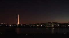 Wash  DC Night Skyline Time Lapse Stock Footage