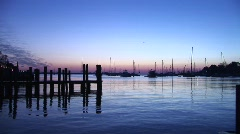 Annapolis  MD - Harbor at Dawn - Blue Stock Footage