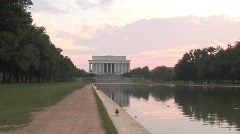 Lincoln Memorial at Sunset Stock Footage