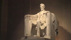 Lincoln Memorial Statue HDV - stock footage