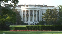 White House South Lawn Stock Footage