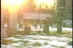 oldcemetarylensflare - stock footage