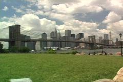 Brooklyn Bridge day ws Stock Footage