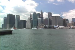 Pan of Lower Manhattan Stock Footage