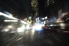 Fast Night Driving - stock footage