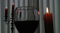 3 Generic misc candle and wine shots Stock Footage