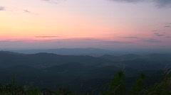 Front Royal, VA - Shenandoah Park - Mountain Sunset Pan Stock Footage