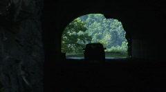Front Royal  VA - Shenandoah Park - Tunnel Zoom Stock Footage
