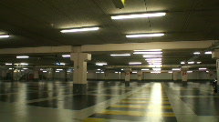 Underground parking lot Stock Footage