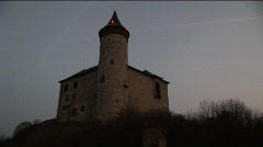 czech castle before dawn - stock footage