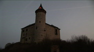 Stock Video Footage of czech castle before dawn