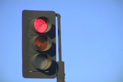 Traffic light - stock footage