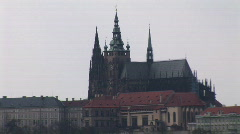 Prague castle zoom out Stock Footage