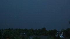 2 lightning strikes Stock Footage