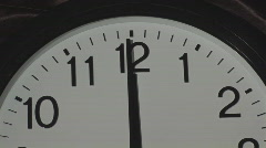 Clock twelve CLOSE Stock Footage
