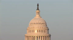 Capitol dome close afternoon - stock footage