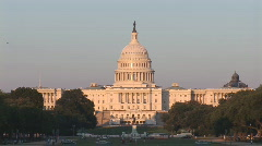 Capitol medium and plane afternoon Stock Footage