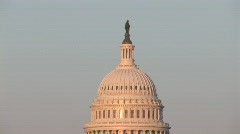 Capitol tilt down afternoon Stock Footage