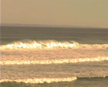 Zoom Out Waves Waitpinga - stock footage