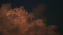 Cloud thunderhead sunset (2nd) Stock Footage