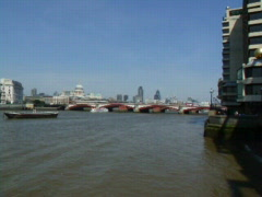 River Thames London Stock Footage