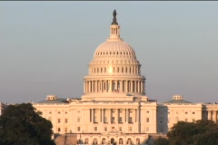 Capitol medium wide afternoon DV Stock Footage