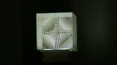 Optical illusion, cube Stock Footage