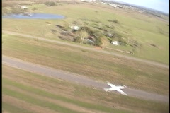 Skydive landing Stock Footage