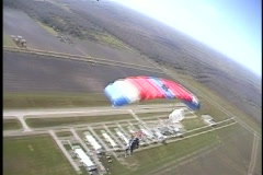 Skydive solo Stock Footage