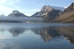 Bow Lake, Alberta, Canada - stock footage