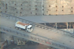 Ground Zero - truck pull out - stock footage