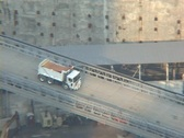 Stock Video Footage of Ground Zero - truck pull out