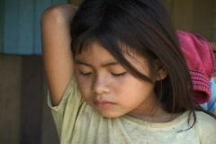 Amerindian Girl in Peru Stock Footage