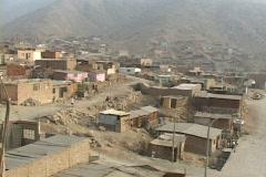Evening falls on a poor settlement near Lima, Peru. - stock footage
