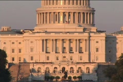 US Capitol afternoon TILT UP Stock Footage