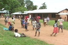 Children play at an orphanage in Rwanda, Africa - stock footage