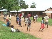 Children play at an orphanage in Rwanda, Africa Stock Footage