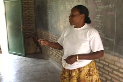 Stock Video Footage of Teacher at a school in Rwanda, Africa