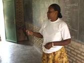 Teacher at a school in Rwanda, Africa Stock Footage