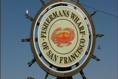 Trolly at Fisherman's Wharf, San Francisco - stock footage