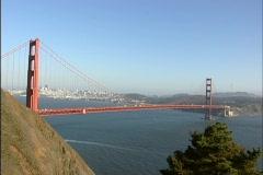 Golden Gate Bridge in San Francisco, California - stock footage
