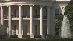 White House - extreme close Stock Footage