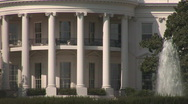 Stock Video Footage of White House - extreme close
