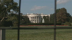 White House - shot through fence plus zoom in Stock Footage
